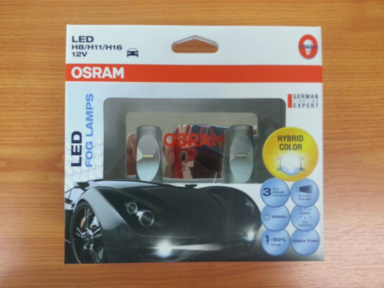 osram ledriving retrofit led fog lamp bulbs h8 h11 h16 cold white hybrid color 5000k 12v 10w. Black Bedroom Furniture Sets. Home Design Ideas