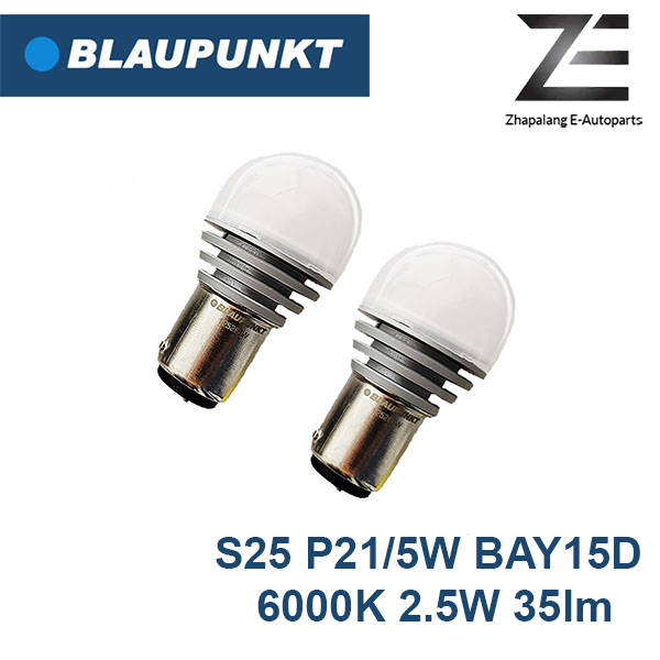 Blaupunkt S25 P21/5W BAY15D 6000K LED Stop Light, Brake Light Bulb 125260W