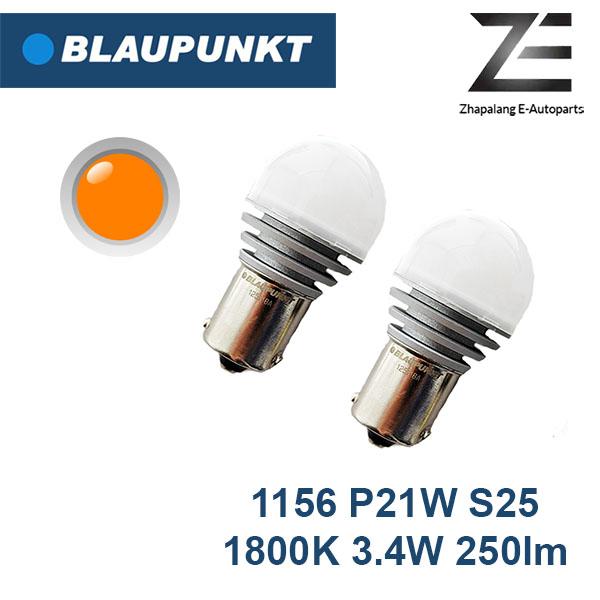 Blaupunkt LED BA15S 1156 P21W S25 1800K Amber Signal Lamp 125118A