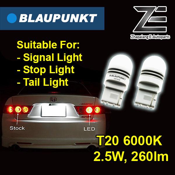 Blaupunkt T20 6000K LED Signal Light, Stop Light, Tail Light Indicator Lamp 120160W