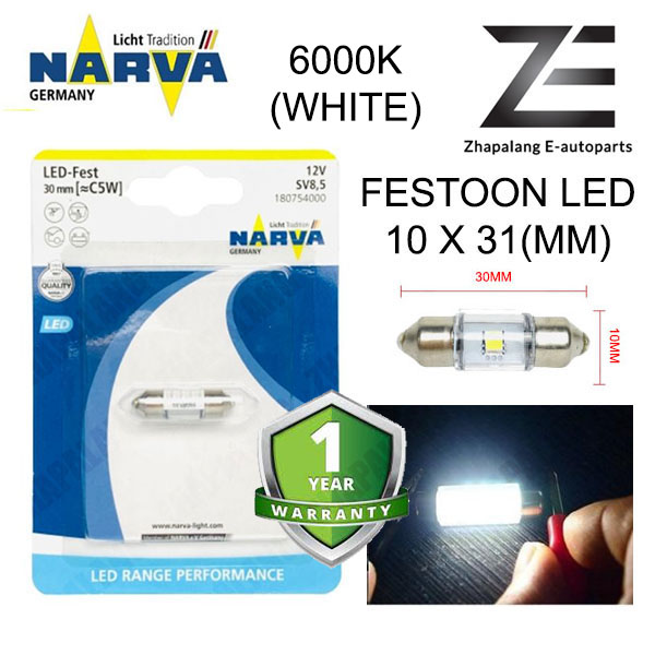 NARVA Festoon 30mm 12V LED Interior Light Bulb/Room Light/Reading Lamp C5W 18075