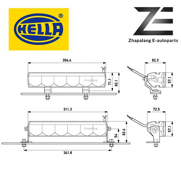 HELLA LBE 320 LED Light Bar w/ DRL - 1FE 358 154 001(LBE320) - Image 2