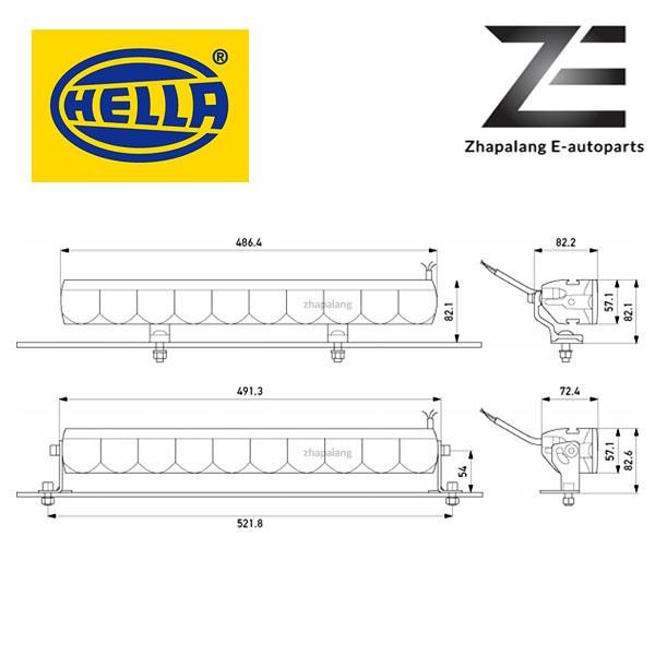 HELLA LBE 480 LED Light Bar w/ DRL - 1FE 358 154 021(LBE480) - Image 2