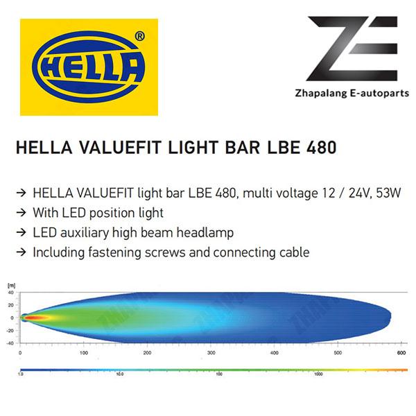 HELLA LBE 480 LED Light Bar w/ DRL - 1FE 358 154 021(LBE480) - Image 5