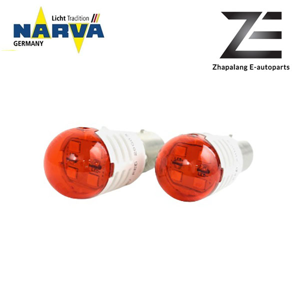 NARVA P21/5W 12V LED Signaling Light Bulb Red BAY15D 18096 - Image 2