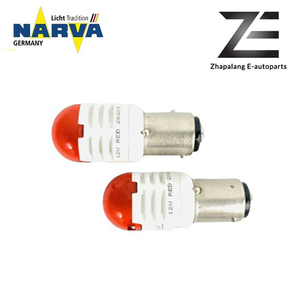 NARVA P21/5W 12V LED Signaling Light Bulb Red BAY15D 18096 - Image 3