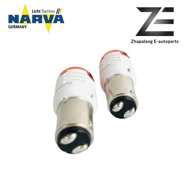 NARVA P21/5W 12V LED Signaling Light Bulb Red BAY15D 18096 - Image 4