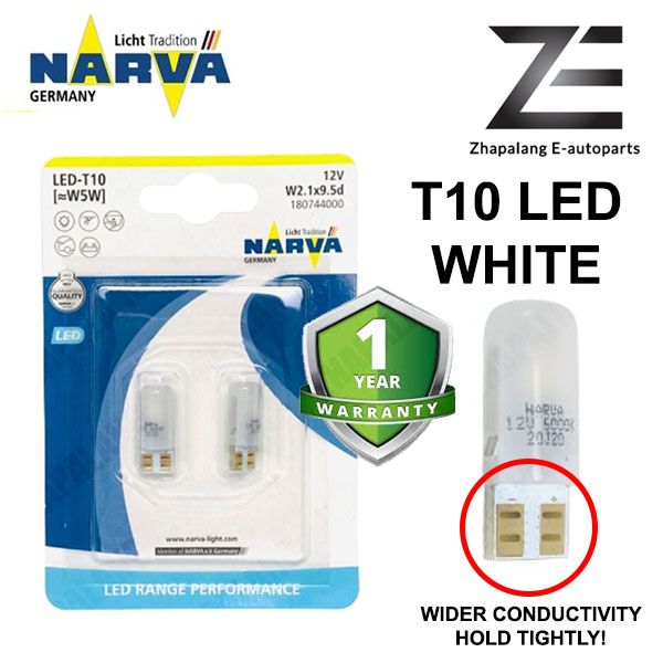 NARVA T10 W5W 12V LED Signaling Light Bulb White 18074
