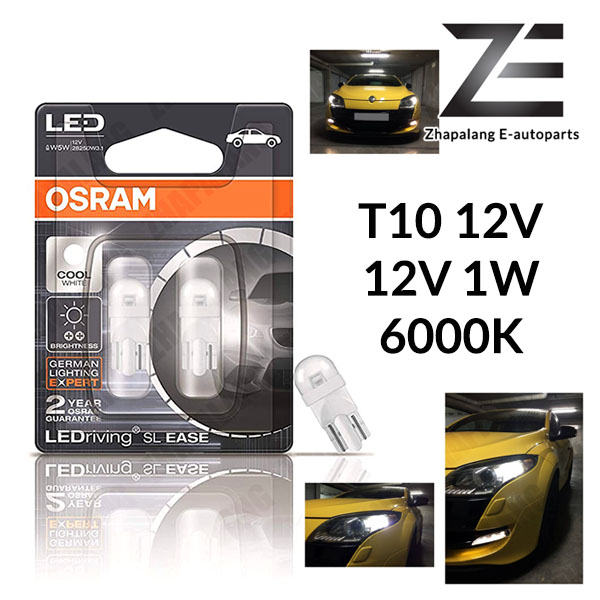 Osram LED (2825DW) T10 12V 1W Cool White 6000K OEM Bulbs,License Plate Light