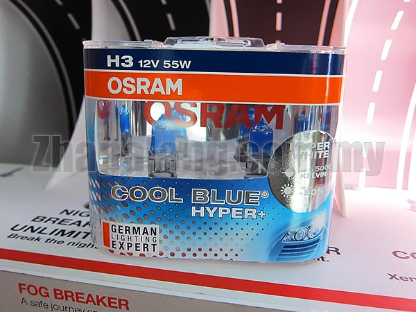 Osram Cool Blue Hyper 5000k Blueish White 55W H3