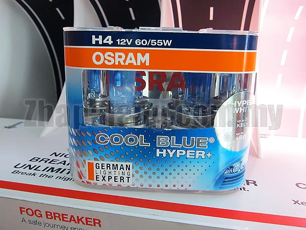 Osram Cool Blue Hyper 5000k Blueish White 55W H4