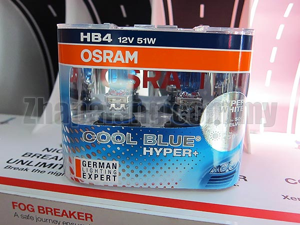 Osram Cool Blue Hyper 5000k Blueish White 51W HB4/9006