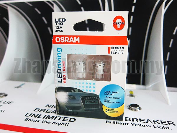 Original OSRAM LEDriving 4090 T10 12V Red Light