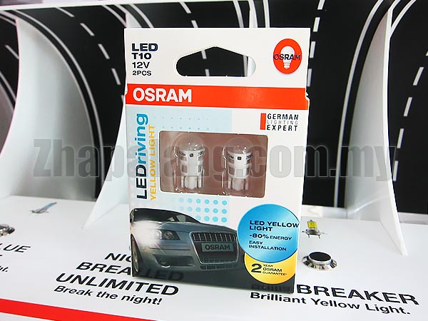Original OSRAM LEDriving 4090 T10 12V Yellow Light