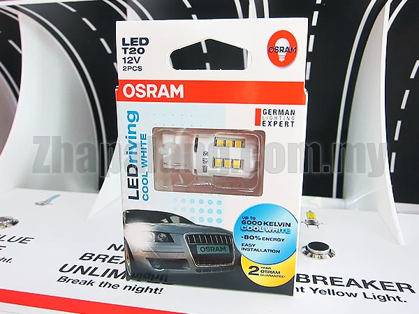 Original OSRAM LEDriving T20 6000K Cool White LED