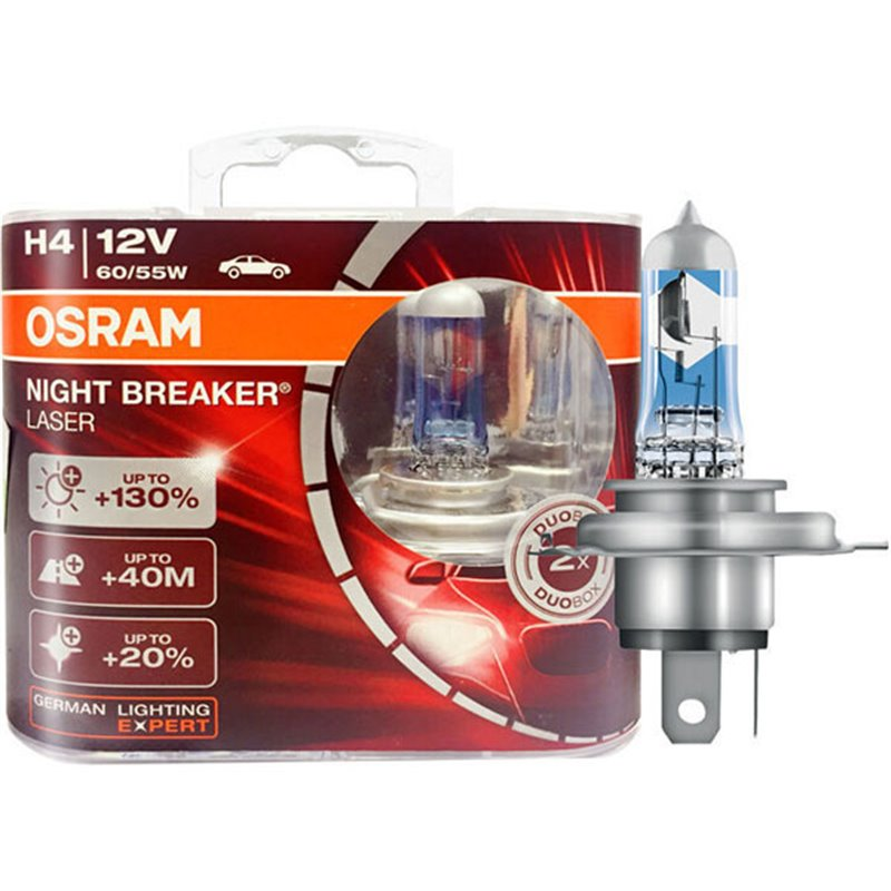 OSRAM Night Breaker LASER +130% +40m H4 - Image 1