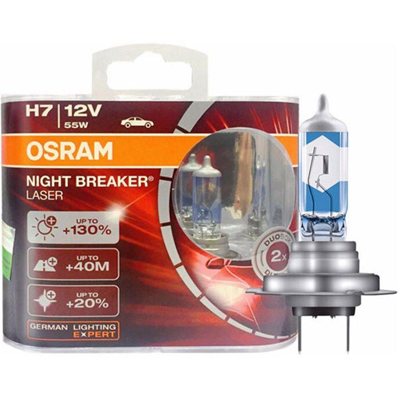 OSRAM Night Breaker LASER +130% +40m H7