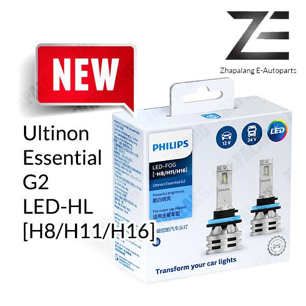 Philips G2 H8/H11/H16 Ultinon Essential LED Fog Lamp Bulb 11366UE2X2 LED-FOG