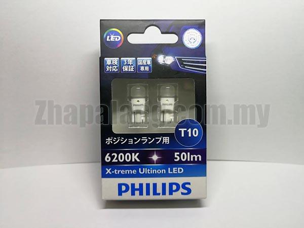 Philips X-treme Ultinon LED T10 360° CeraLight 6200K