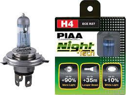 PIAA Night Tech Series 3600K Yellow Halogen Bulb H4