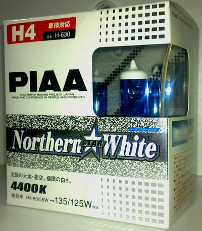 PIAA Nouthern Star White 4400K Halogen Bulb  H1