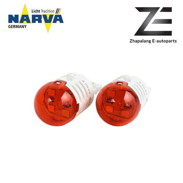 NARVA T20 W21/5W 12V LED Signaling Light Bulb Red 18106 - Image 2