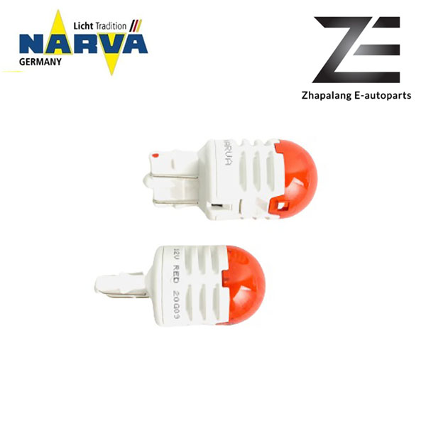 NARVA T20 W21/5W 12V LED Signaling Light Bulb Red 18106 - Image 3