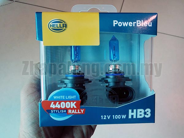 Hella PowerBleu White Light 4400K Stylish Rally 12V 100W HB3