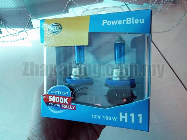 Hella PowerBleu White Light 5000K Stylish Rally 12V 100W H11