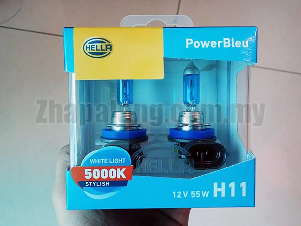 Hella PowerBleu White Light 5000K Stylish Standard 12V 55W H11
