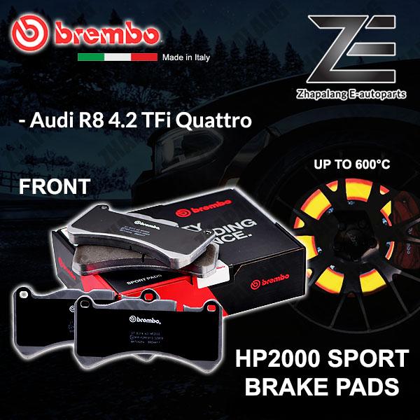 BREMBO HP2000 Audi R8 4.2 TFi Quattro Front 600°C Sport Racing Disc Brake Pad