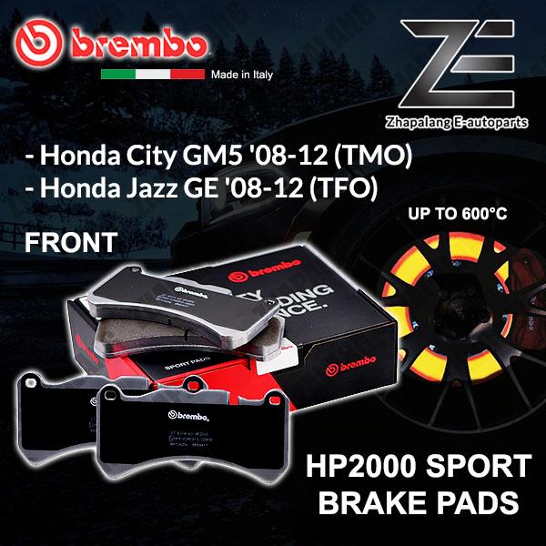 BREMBO HP2000 Honda City GM5 TMO Jazz GE 2008~12 Sport Racing Performance 600°C Front Disc Brake Pad