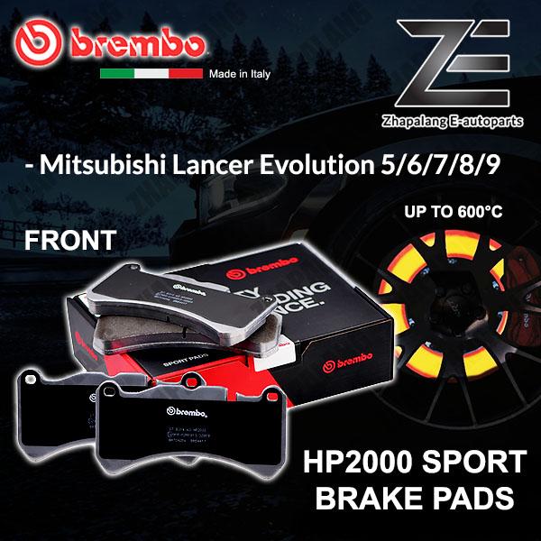 BREMBO HP2000 Mitsubishi Lancer Evolution Evo 56789 Sport Racing Performance 600°C Front Disc Brake Pad