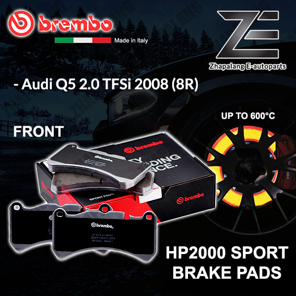 BREMBO HP2000 Audi Q5 8R 2.0 TFSi 2008~ Front 600°C Sport Racing Disc Brake Pad
