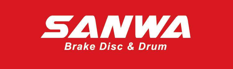 Sanwa Cross Drilled Slotted Disc Rotor From Japan for Proton Exora - Front