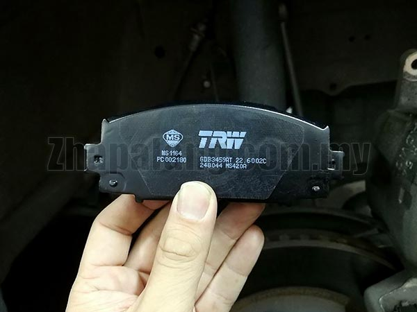 TRW Atec Front Brake Pads for Perodua Alza Facelift