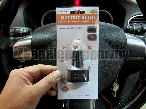 12V-24V Mini Digital LED Display Red Cigarette Lighter Electric Car Battery Voltage Meter Tester 026-34