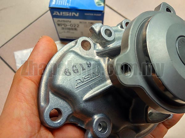 Aisin WPD-022 Water Pump for Mira L2 - Image 3
