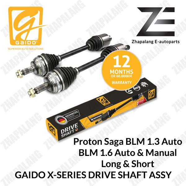 [1Pcs]Gaido X-Series Drive Shaft Proton Saga BLM 1.3 Auto BLM 1.6 Auto & Manual Long & Short