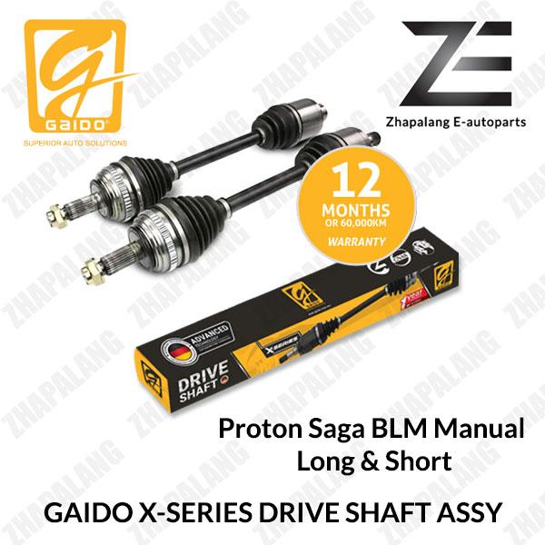 [1Pcs]Gaido X-Series Drive Shaft Proton Saga BLM 1.3 Manual Long & Short