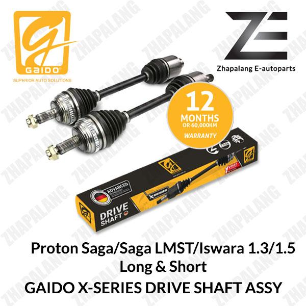 [1Pcs]Gaido X-Series Drive Shaft Proton Saga/Saga LMST/Iswara 1.3/1.5 Long & Short