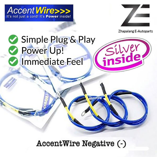 Accent Wire Negative (-) Ignition Grounding Earth Cable Power Up, Fuel Saving, Easy DIY - Image 1