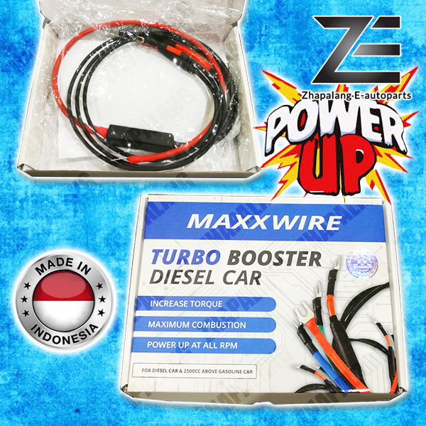 Maxxwire Blue Turbo Booster Diesel Car with Accent Wire Power Up Grounding Set(Thicker Version)