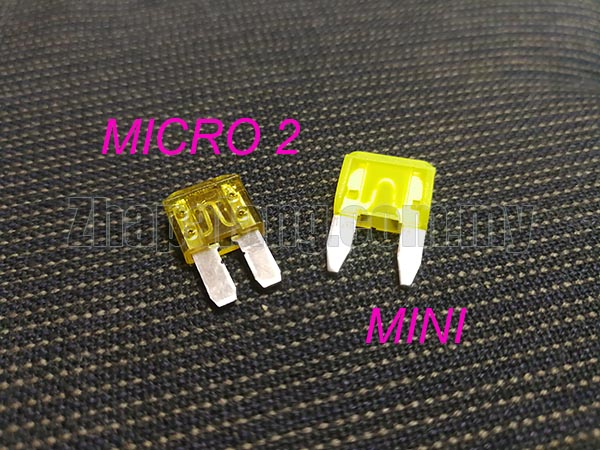 Micro 2 Blade Plug In Automotive Fuse Micro II from 7.5Amp-30Amp