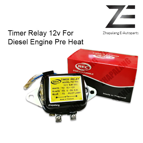 REC Thailand Timer Relay 12v For Diesel Engine Pre Heat TR-996 PHT996