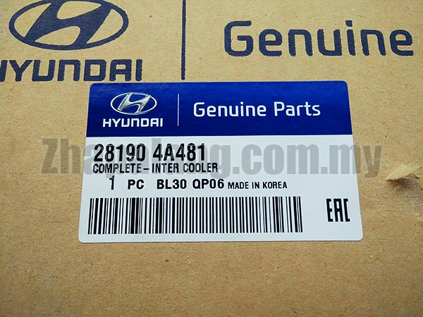 Original Intercooler Assy Cooler 281904A481 for Hyundai Starex H1,iMax \'07-11 - Image 4