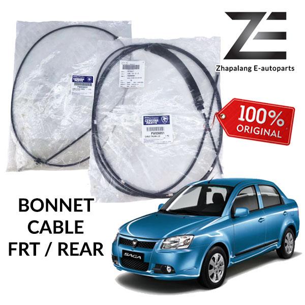 Original Proton Saga Blm Bonnet Cable Front PW836034 / Rear PW836051
