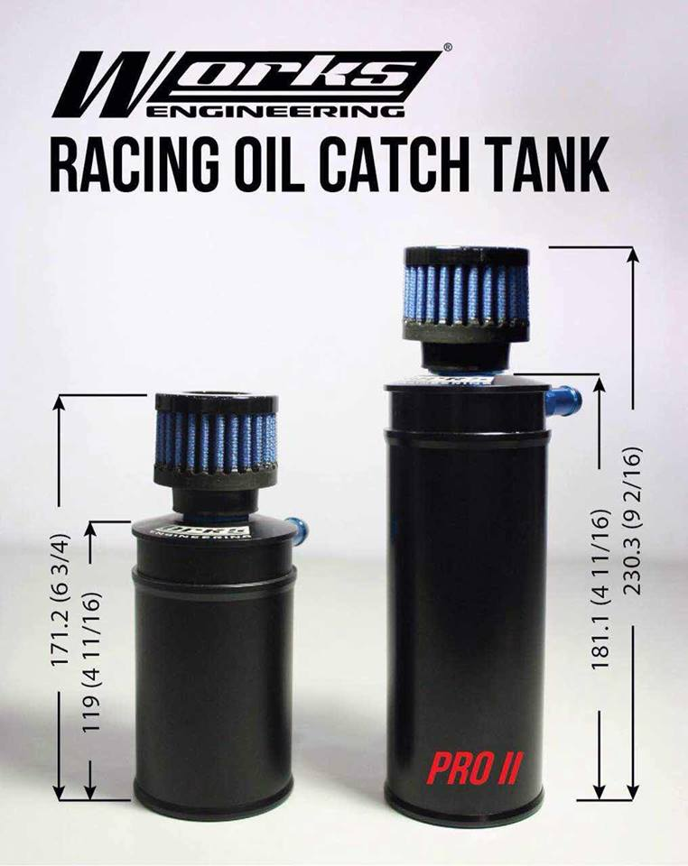 Works Engineering Plus Racing Oil Catch Tank Pro2(Longer Version)