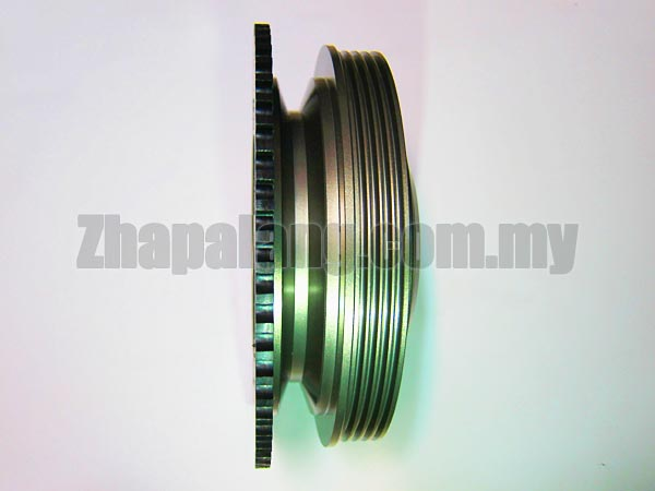 Redline Light Weight Crank Pulley/Lightened Crank Pulley(LCP) for Proton 12V 1.3/1.5 VDO - Image 3