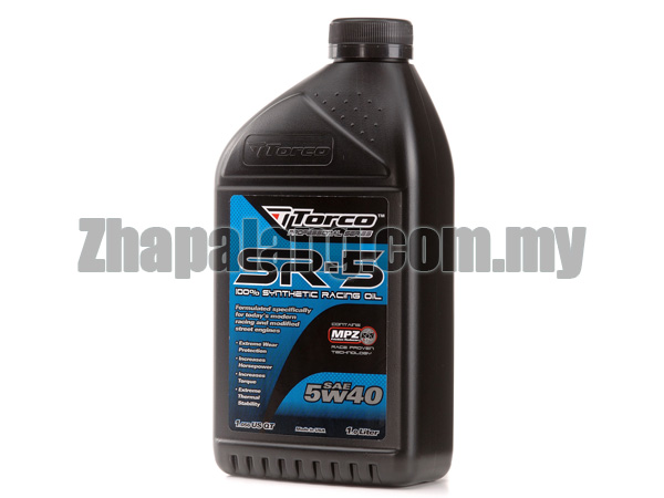 Torco SR-5 5W40 Synthetic Racing Oil